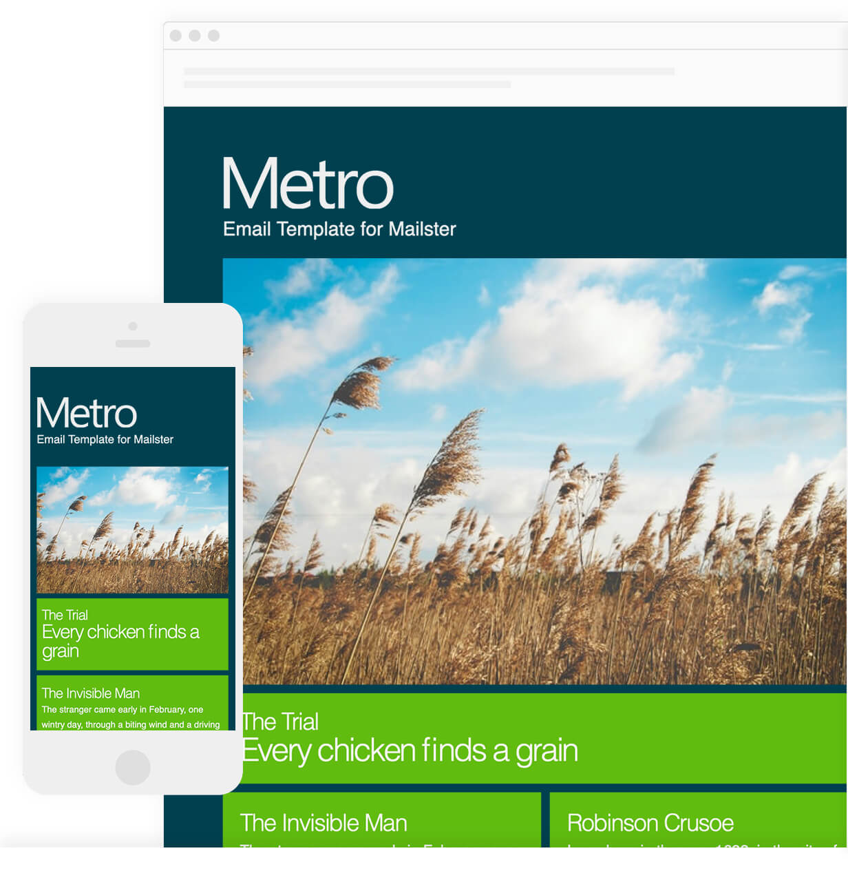 Metro - Email Template for Mailster - 6
